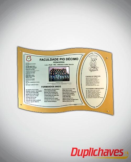 Placa de Formatura
