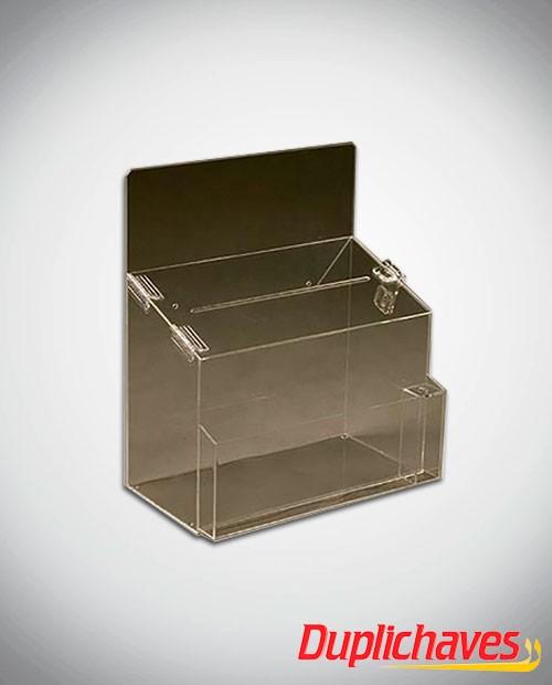 Caixa de Sugestões em acrílico