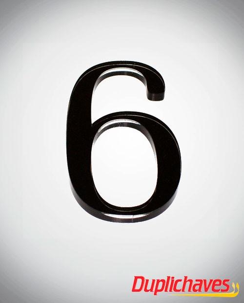 Números em acrílico